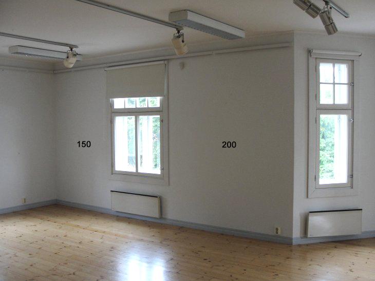 Voipaalan taidekeskuksen. 2.krs: seinä 1,9/1,3 m. näyttelytila.
