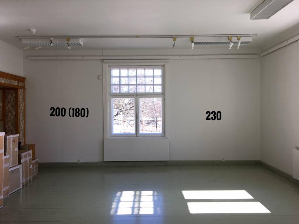 Alakerran huone 50m2 seinät 200/230